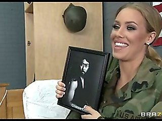 Incredibly Hot Blond Sexy Army Girl