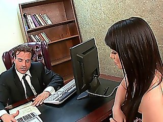 Teen Secretary Ashlyn Rae Fucks The Boss