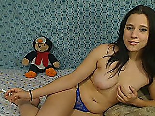 Wild Babe In Her Blue Lingerie Hd
