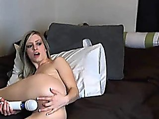 Beautiful Blonde Babe Toying Her Pussy