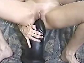 Blond Milf Sits On A Huge Dildo