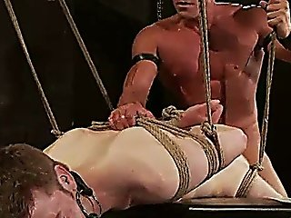 Rope Bondage Gay Hairy Ass Fucked