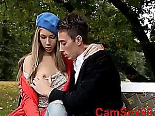 Beatiful Hot Teen Anjelica Get Fuck In The Park