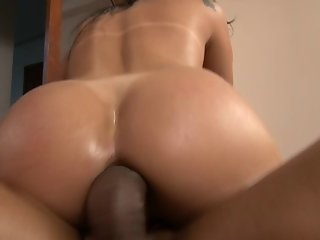 Horny Latina Slut Getting Her Oil Drenched Bubble Butt Fucked Hard