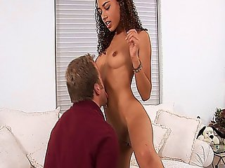 Curly Haired Latina Slut Mimi Allen Gets Fucked By A Muscular Stud