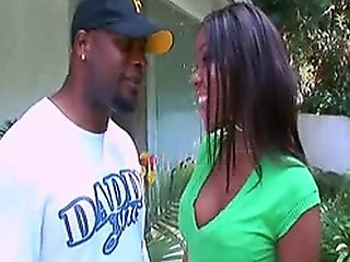 Ebony Slut Candice Nicole Takes Mr. Marcus' Black Dong Deep Inside Her