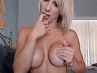 Beautiful Busty Blonde Rides Her Toy Hd