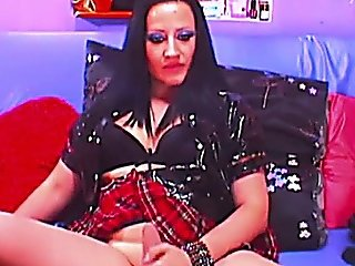 Yummy Tranny In Uniform Doing A Hot Webcam Show
