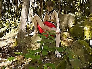 Glass Dildo In Her Girly Hole In Forest