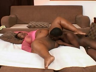 Sexy Black Super Bbw Bitch Gets A Dose Of Black Cock Inside Her