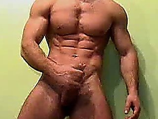 Big Cock Muscles Guy Jacking His Ha