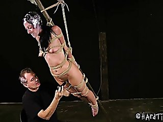Defenseless Slave Girl Tied To A Ladder And Is Used 2- 2