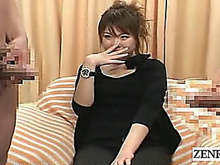 Subtitled Japanese Cfnm Strange Penis Interview Session
