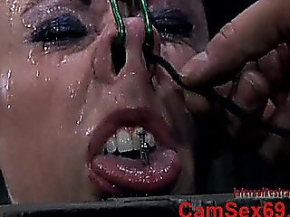 A Tongue Of The Slave Girl Gets Nailed