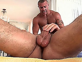 Masseur's Gay Butt Nailed Good On Massage Table