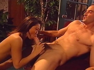 Sexy Oriental Babe Sucking Old Man Cock And Riding It