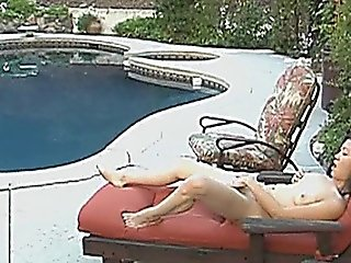 Naughty Asian Girl Masturbates Outdoor