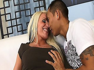 Asian Dude Banging A Smoking Hot Blonde Milf Slut