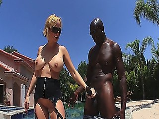 Sexy Blonde Milf Sucks And Fucks With A Big Black Cock