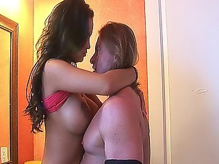 Dude Banging A Hot Brunette Chick With Big Tits And A Fresh Pussy