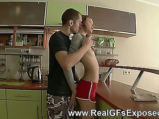 Kitchen Girlfriend Fucked Doggystyle In The Butt