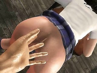 Sexy Animated Chick With Small Tits
