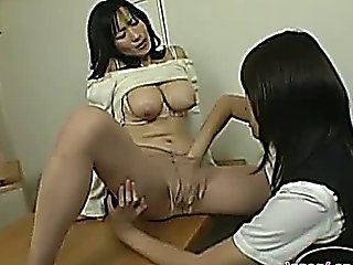 Busty Lesbian Spanked