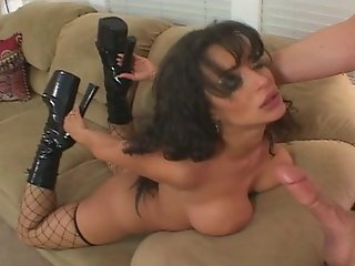 Sexy Brunette With Big Tits And Fishnets Joins The Milf Club