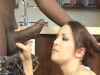 Sexy Brunette Slut Gets Served A Big Black Cock