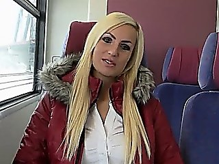 Hot German Blonde Fuck On Metro Fvck3r