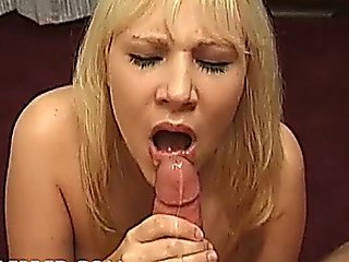 Christiana Springs Pretty Blond Tart Gives Expert Suck Job Blowjobs Cum On Chest