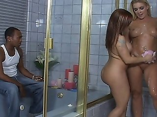 Black Dude Has An Interracial Anal Threesome With Heidi Mayne And Katja Kassin