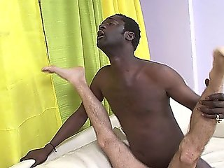 White Gay Guy Sucking Black Dick And Getting Interracial Anal