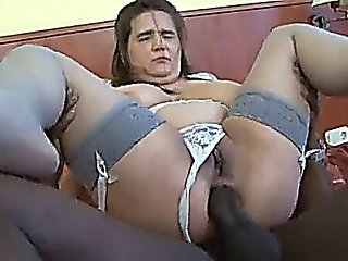 Chubby Anally Fucked During Interracial Sex