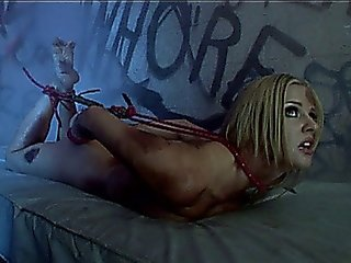 Hogtied Blonde Slut Goes Through An Intense Anal Ordeal
