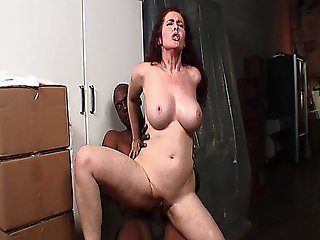 Redhead Mature Babe With Big Tits Loves Big Black Dick Inside Her