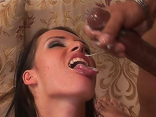 Jennifer Dark Takes On Two Black Sausages In Interracial Action
