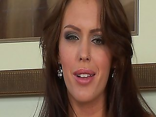 Jenna Presley Masturbates With A Big Purple Dildo