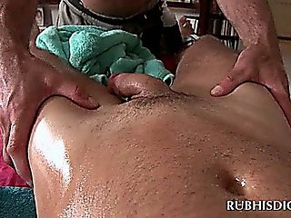Horny Gay Masseur Sucking Straight Dick With Lust