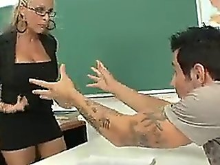 Blonde Nasty Milf Teacher Getting A Hard Fat Cock