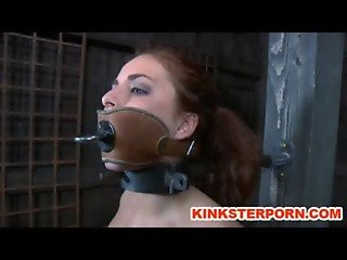 BDSM Slave Ashley Graham Chained and Whipped by Sadistic Master
