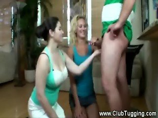 Milfs give neighbour handjob