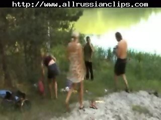 Russian Camping russian cumshots swallow