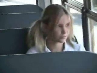 Blonde Schoolgirl Anal on bus by BitchyPorn(dot)com
