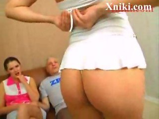 Old guy fucks two young russian girls - Xniki.com