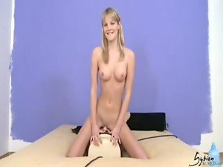 Pretty Rose rides the Sybian