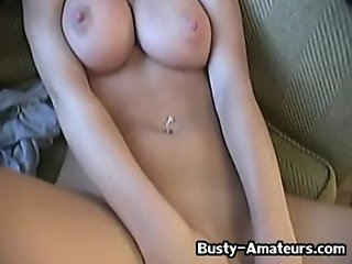 Busty babe Lisa with her sticky fingers 2