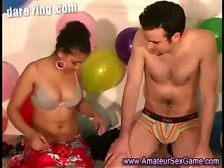 Bisexual amateurs at sex dare party