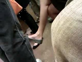 Asian milf on F train expert dangle