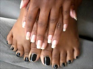 Sexy Black Toes
